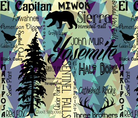 Yosemite National Park Entry fabric by dstimpson on Spoonflower - custom fabric