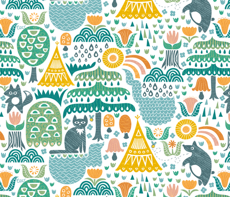 Summer in Sarek fabric by christinewitte on Spoonflower - custom fabric