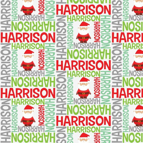 CHRISTMAS personalised name design - spiral with pic