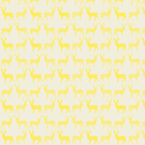 Yellow Meadow Deer on White