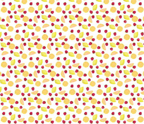 strawberrylemonade4 fabric by amyjeanne_wpg on Spoonflower - custom fabric