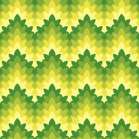 leafy zigzag for goats fabric by sef on Spoonflower - custom fabric