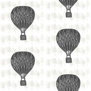 Charcoal Hot-air Balloon