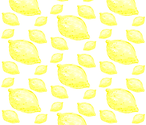 Lemon Large fabric by amyjeanne_wpg on Spoonflower - custom fabric