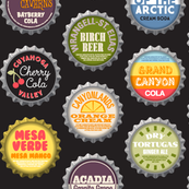 Soda Nation (2-liter Cola) || bottlecap bottle cap national park America United States nps polka dots typography cola travel summer food drink vacation