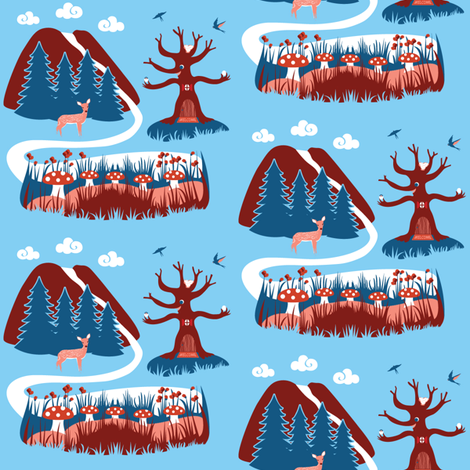Hill and Dale fabric by amyperrotti on Spoonflower - custom fabric