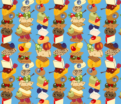Stacks of Snacks fabric by loopy_canadian on Spoonflower - custom fabric
