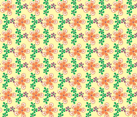 Frangipani_yellow fabric by malolo on Spoonflower - custom fabric