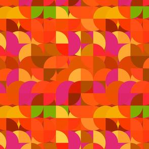 Mod Circles in Orange and Yellow