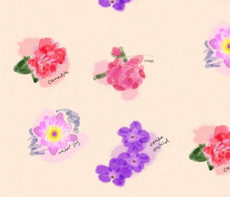 Watercolor Sketchbook fabric by nfdesigncreations on Spoonflower - custom fabric