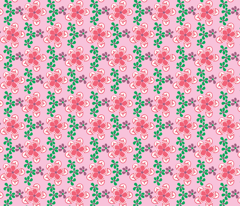 Frangipani_pink fabric by malolo on Spoonflower - custom fabric
