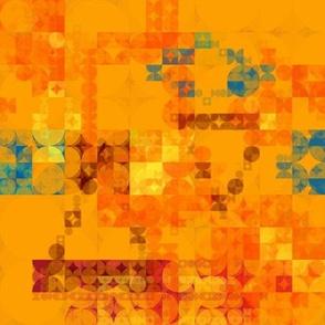 Orange Circle Geometric