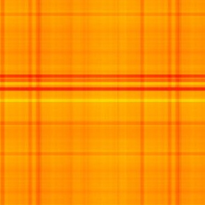 Bright Orange Madras Style Plaid