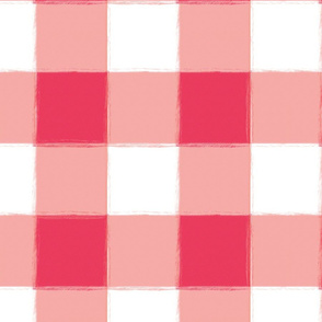 Large Watermelon Buffalo Check Gingham
