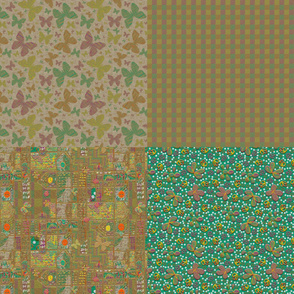 Floating Flowers Coordinating Fat Quarters