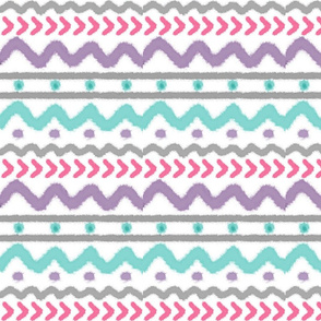 Tribal  - Watercolor Pastel