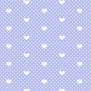Polka Dot and Heart Lilac
