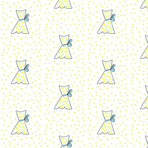 summer dress yellow polka dots