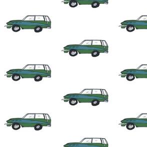 vintage green wagon - medium