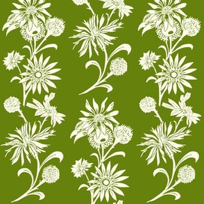 Stylized Floral in Green