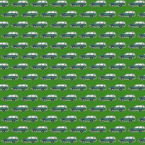 vintage green wagon mini-Forest