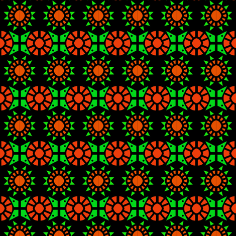 Southwest 12 Point Stars 2 fabric by eve_catt_art on Spoonflower - custom fabric
