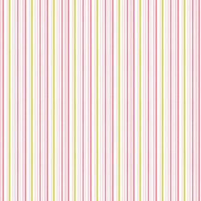 Multi Stripe  pink and green