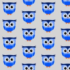 Cute Owl Blue