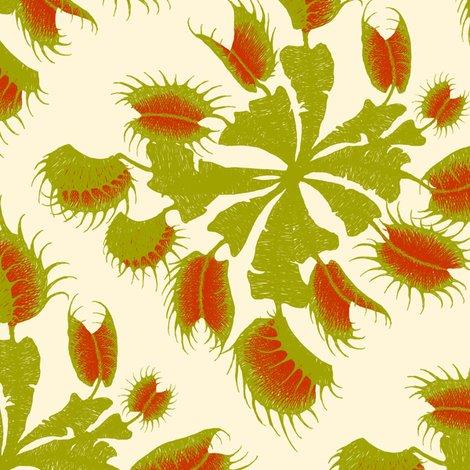 Venus Flytrap - butter fabric - thecalvarium - Spoonflower