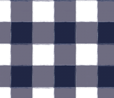 Large Navy Buffalo Check Gingham fabric by sugarfresh on Spoonflower - custom fabric
