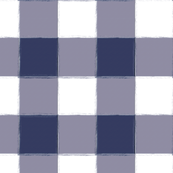 Large Navy Buffalo Check Gingham