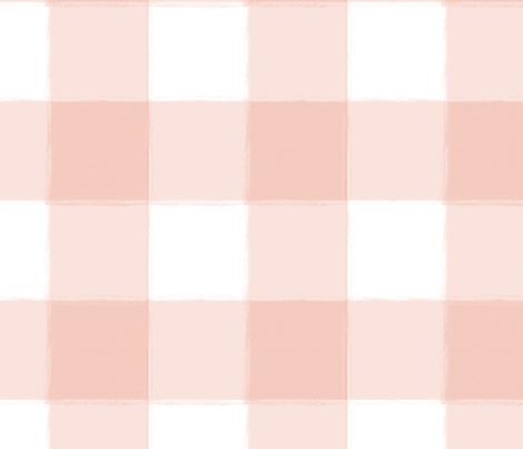 Large Blush Pink Buffalo Check Gingham fabric by sugarfresh on Spoonflower - custom fabric