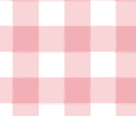 Large Perfect Pink Buffalo Check Plaid fabric by sugarfresh on Spoonflower - custom fabric
