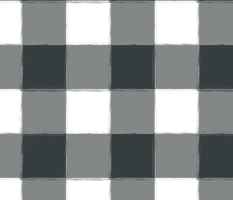 Large Charcoal Gray Buffalo Check Gingham fabric by sugarfresh on Spoonflower - custom fabric