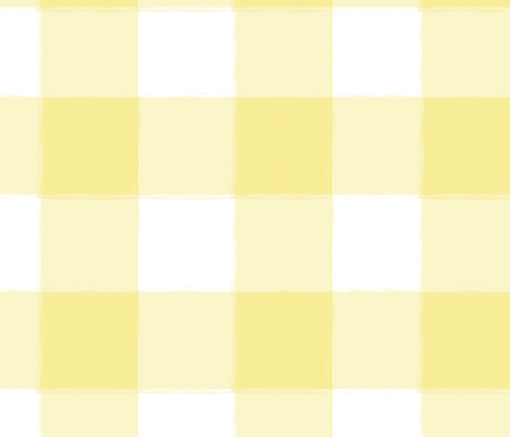 Large Yellow Buffalo Check Gingham Fabric Sugarfresh