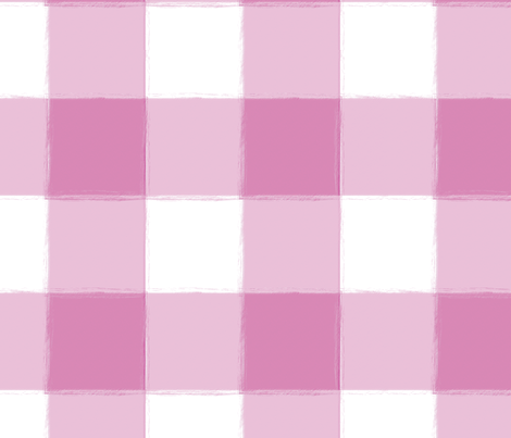 Large Lilac Buffalo Check Gingham fabric by sugarfresh on Spoonflower - custom fabric