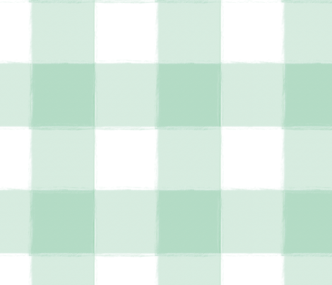 Large Mint Buffalo Check Gingham fabric by sugarfresh on Spoonflower - custom fabric