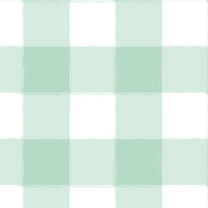 Large Mint Buffalo Check Gingham
