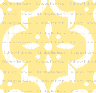 Yellow Ikat Moroccan Flower