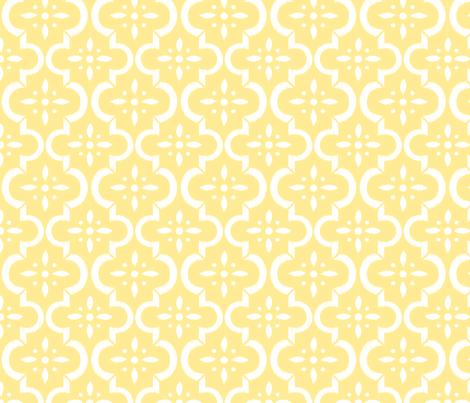 Yellow Ikat Moroccan Flower fabric by sugarfresh on Spoonflower - custom fabric
