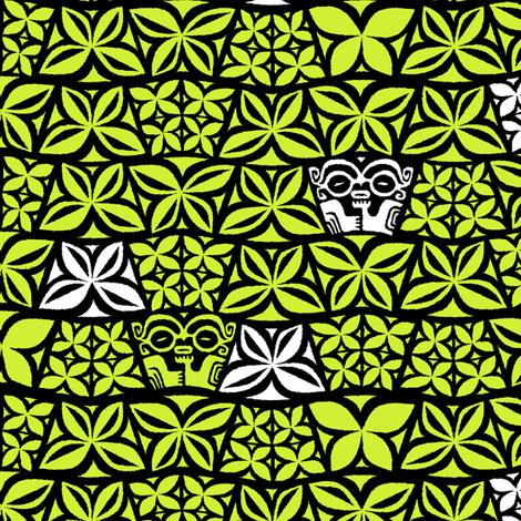 Aloha Flowers 4e fabric by muhlenkott on Spoonflower - custom fabric
