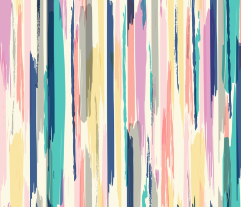painted_Stripe fabric by crystal_walen on Spoonflower - custom fabric