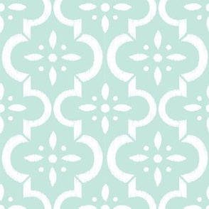 Mint Ikat Moroccan Flower