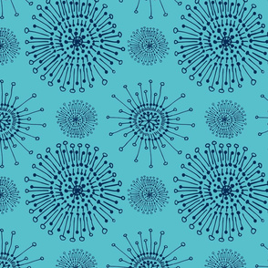 dandelions turquoise
