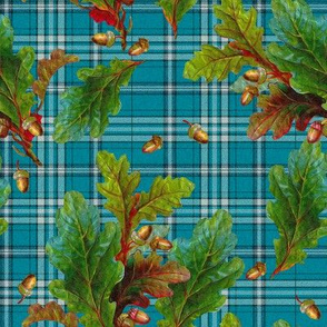 Kinlock Forest Tartan in tudor blue