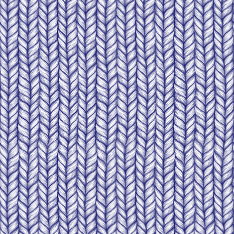 Chunky Knit Pattern in Pale Grey and Navy Blue fabric by micklyn on Spoonflower - custom fabric