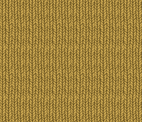Chunky Mustard Knit Pattern fabric by micklyn on Spoonflower - custom fabric