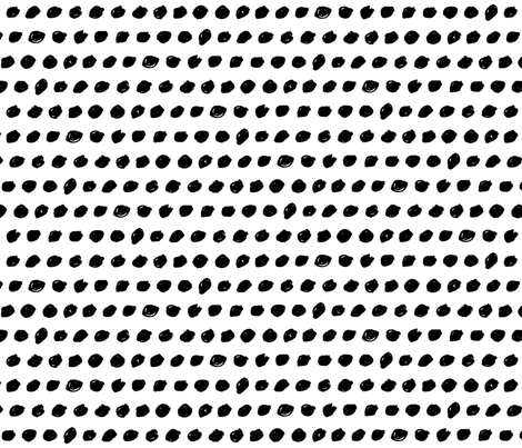 black white dots fabric by primuspattern on Spoonflower - custom fabric