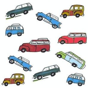 Vintage cars -Red