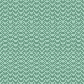 mini scallop in spring green
